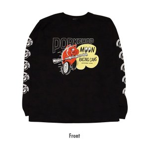 PORKCHOP × MOONEYES Cams ロング スリーブ T シャツ(ブラック)|mooneyes