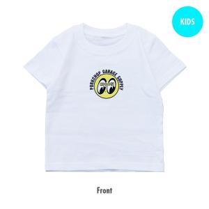 PORKCHOP × MOONEYES Cams キッズ T シャツ(ホワイト)|mooneyes