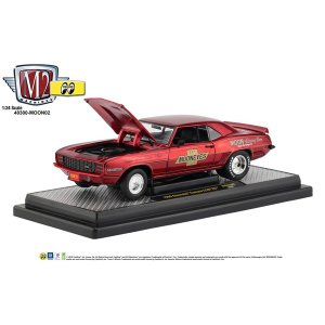 M2 1/24 Die Cast Model '69 Chevrolet Red Camaro Z/28|mooneyes