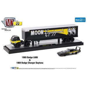 【Walmart限定】M2 1/64 Die Cast Model 1969 Dodge L600 & 1969 Dodge Charger Daytona|mooneyes