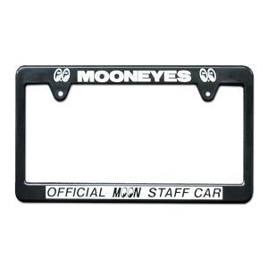 MOONEYES(ムーンアイズ)  ライセンス フレーム OFFICIAL MOON STAFF CAR mooneyes