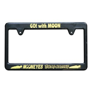 MOONEYES(ムーンアイズ) ブラック ライセンス フレーム / Racing Division mooneyes