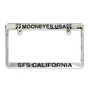 MOONEYES(ムーンアイズ) クローム ライセンス フレーム / MOONEYES USA mooneyes