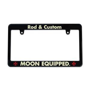MOON Equipped (ムーン イクイップド)   ブラック ライセンス フレーム / Rod & Custom|mooneyes