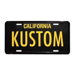 MOONEYES (ムーンアイズ) カリフォルニア ライセンス プレート KUSTOM|mooneyes