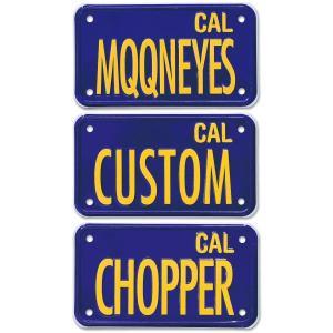 California Motorcycle ライセンス プレート (ブルー)|mooneyes