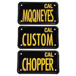 California Motorcycle ライセンス プレート (ブラック)|mooneyes
