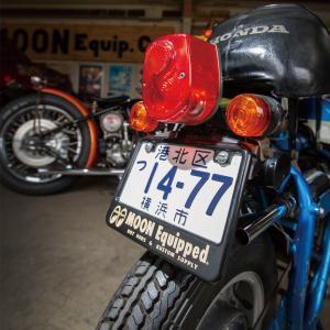 ムーンアイズ バイク ナンバーフレーム 【50cc〜125cc】 MOON Equipped ライセンス プレート フレーム for スモール モーターサイクル ブラック|mooneyes