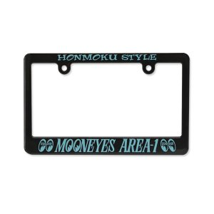 モーターサイクル ブラック ライセンス フレーム MOONEYES (ムーンアイズ) Area-1|mooneyes