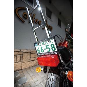 ムーンアイズ バイク ナンバーフレーム THE REAL THING! ライセンス プレート フレーム for モーターサイクル ブラック【for 126cc UP】|mooneyes