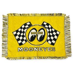 ムーンアイズ Checker MOON ラグ マット|mooneyes