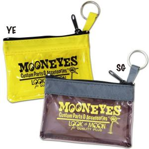 MOON Key Ring Zippered Pouch (ムーン キーリング ジップド ポーチ)|mooneyes