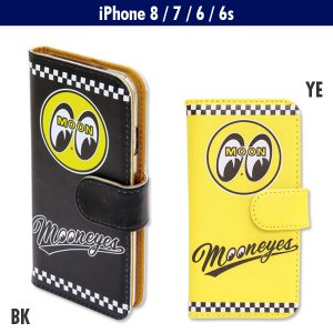 MOONEYES iPhone7 & iPhone6/6s フリップ ケース|mooneyes