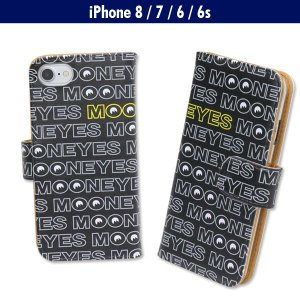MOON Logo iPhone7 & iPhone6/6s フリップ ケース|mooneyes