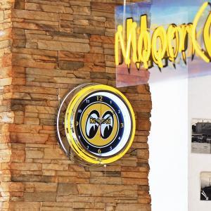 MOON ビッグ アイボール ネオン クロック|mooneyes