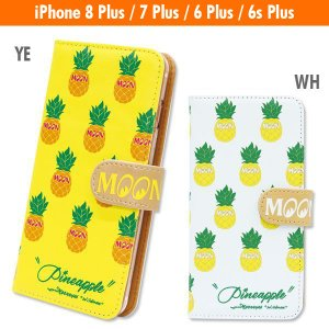 Pineapple iPhone7 Plus & iPhone6/6s Plus フリップ ケース|mooneyes