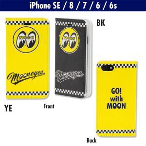 ムーンアイズ iPhone SE (2020), iPhone8, iPhone7 & iPhone6/6s フリップ ケース|mooneyes