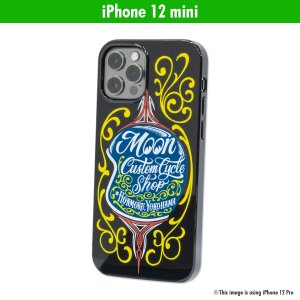 ムーンアイズ MOON Custom Cycle Shop ヘルメット iPhone 12 mini ハード ケース|mooneyes