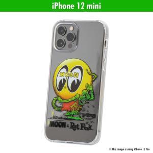 ムーンアイズ MOON X Rat Fink (ラットフィンク) iPhone 12 mini ハード ケース|mooneyes