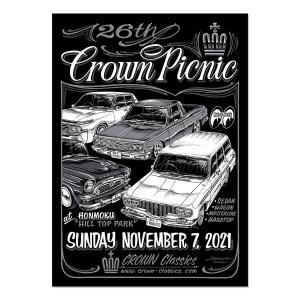 ムーンアイズ イベント ポスター 26th Crown Picnic 2021 ポスター|mooneyes