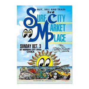 ムーンアイズ 3rd Surf City Market Place by the Sea 2021 ポスター|mooneyes