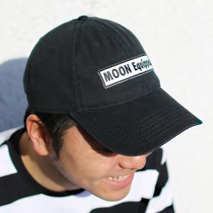 MOON Equipped (ムーン イクイップド) スクエア ロゴ ツイル キャップ|mooneyes
