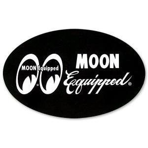 MOON Equipped (ムーン イクイップド)   オーバル ステッカー|mooneyes
