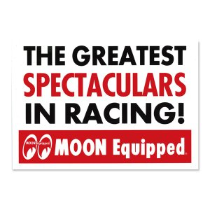 MOON Equipped (ムーン イクイップド)   Spectaculars ステッカー|mooneyes