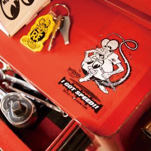 ムーンアイズ Rat Fink x MOON Equipped (ラットフィンク x ムーン イクイップド) カム ステッカー mooneyes