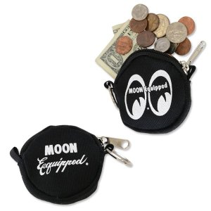 MOON Equipped (ムーン イクイップド)   ラウンド コイン ケース|mooneyes