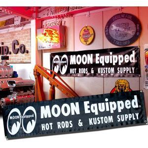 MOON Equipped (ムーン イクイップド)   Black ビニール バナー|mooneyes
