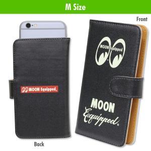 MOON Equipped (ムーン イクイップド) スマートフォン フリップ ケース Mサイズ (MOON Equipped Logo) mooneyes