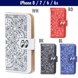 MOON Equipped (ムーン イクイップド)  Paisley iPhone8 & iPhone7 & iPhone6/6s フリップ ケース|mooneyes