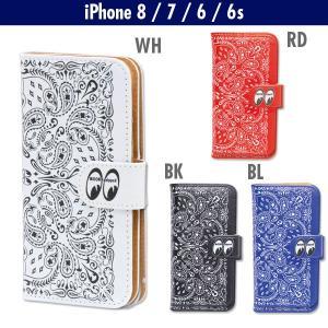 MOON Equipped (ムーン イクイップド)  Paisley iPhone7 & iPhone6/6s フリップ ケース|mooneyes