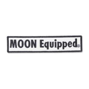 MOON Equipped (ムーン イクイップド)   ロゴ スクエア パッチ|mooneyes