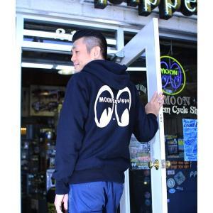 XXLサイズ MOON Equipped (ムーン イクイップド) Zip Up パーカー|mooneyes