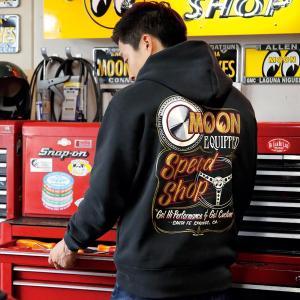 MOON Equipped (ムーン イクイップド) Speed Shop ジップ パーカー|mooneyes