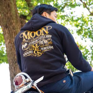 ムーンアイズ MOON Custom Cycle Shop ジップ パーカー mooneyes