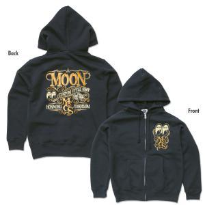 XXLサイズ ムーンアイズ MOON Custom Cycle Shop ジップ パーカー mooneyes