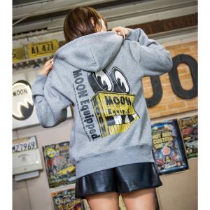 ムーンアイズ MOON Equip. Co. Sign ジップ フーディー (パーカー)|mooneyes