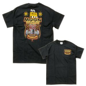 XXLサイズ ムーンアイズ MOON ロードスター Tシャツ [MQT161BK]|mooneyes