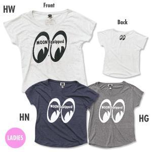レディース MOON Equipped (ムーン イクイップド) ドルマン Tシャツ|mooneyes