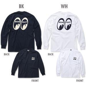 XXLサイズ MOON Equipped (ムーン イクイップド) ポケット付 ロング スリーブ Tシャツ|mooneyes
