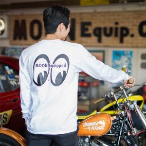 MOON Equipped (ムーン イクイップド) ポケット付 ロング スリーブ Tシャツ|mooneyes