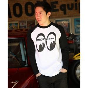 MOON Equipped ラグラン ロングスリーブ Tシャツ|mooneyes
