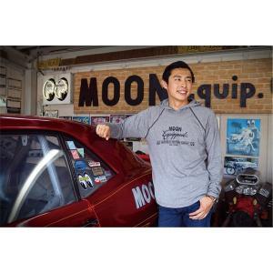 MOON Equipped (ムーン イクイップド) EST 1950 ロング スリーブ フーディー|mooneyes