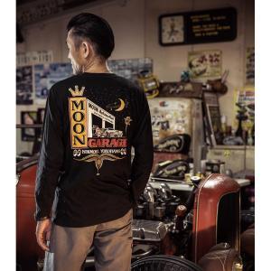 ムーンアイズ MOON Automotive Garage ロング スリーブ Tシャツ|mooneyes