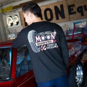 MOON Equipped (ムーン イクイップド) 66years ロング スリーブ Tシャツ|mooneyes
