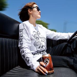ムーンアイズ Rat Fink x MOON Equipped (ラット フィンク x ムーン イクイップド) ロング スリーブ Tシャツ|mooneyes