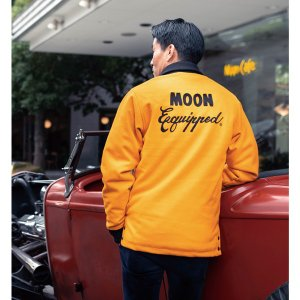 MOON Equipped (ムーン イクイップド) カー クラブ ジャケット イエロー|mooneyes